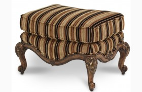 Lavelle Melange Striped Bergere Chair Ottoman