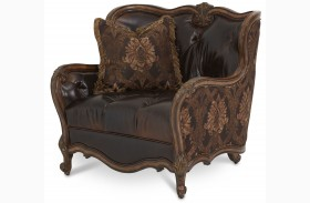 Lavelle Melange Leather/ Fabric Chair and a Half
