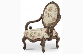Lavelle Melange Floral Oval Back Wood Chair
