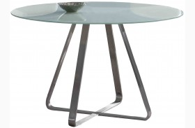 Cameo Painted Glass Dining Table