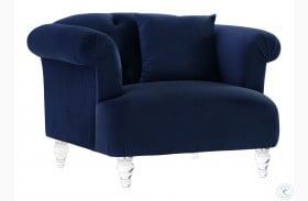 Elegance Blue Velvet Chair