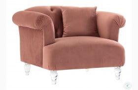 Elegance Blush Velvet Chair