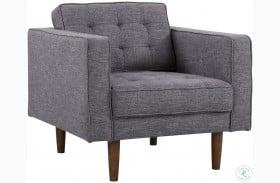 Element Mid-Century Dark Gray Linen Modern Chair