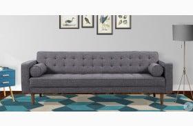 Element Mid-Century Dark Gray Linen Modern Sofa
