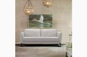 Hope Dove Grey Leather Sofa