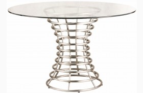 Ibiza Brushed Stainless Steel Dining Table