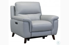 Lizette Dove Grey Genuine Leather Power Reclining Chair