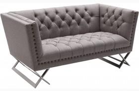 Odyssey Grey Tweed Upholstery Loveseat
