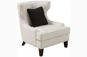 Skyline White Bonded Leather Chair