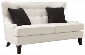 Skyline White Bonded Leather Loveseat