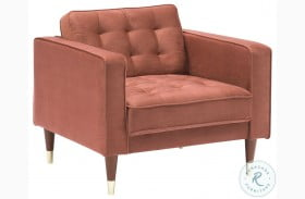 Somerset Blush Velvet Mid Century Modern Club Chair