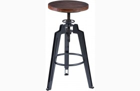 Tribeca Gray Adjustable Barstool