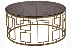 Zinc Shiny Gold Coffee Table