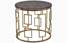 Zinc Shiny Gold End Table