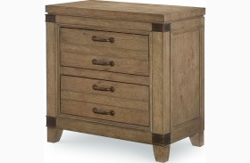 Metalworks Factory Chic 2 Drawers Nightstand