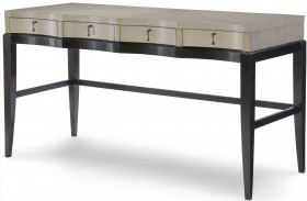 Symphony Platinum & Black Tie 3 Drawers Writing Desk