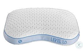 Level White And Blue Personal Performance Firm Pillow