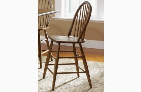 Farmhouse Windsor Back Counter Height Chair Set of 2