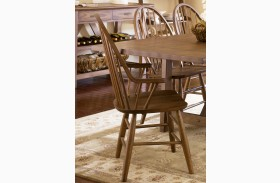 Farmhouse Windsor Back Arm Chair Set of 2