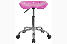 Vibrant Candy Heart Tractor Seat Stool