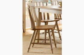 Al Fresco Slat Back Side Chair Set of 2