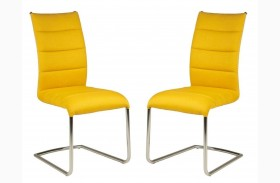 Regis Lido Yellow Dining Chair Set of 2