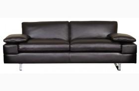 Lindo Black Leather Sofa