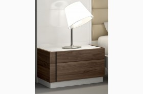 Lisbon Natural White Lacquer LAF Nightstand