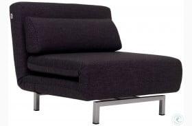LK06-1 Black Fabric Premium Chair Bed