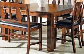 Lakewood Medium Oak Extendable Rectangular Counter Height Table