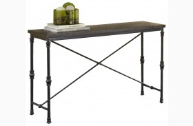 Lillian Gunmetal Sofa Table