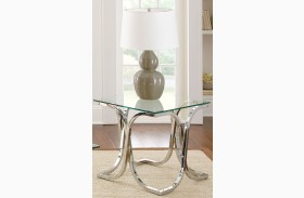 Leonardo Glass Top End Table