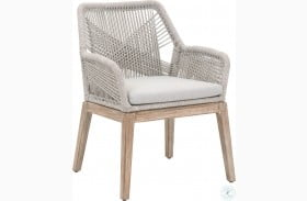Loom Wicker Natural Gray Arm Chair Set of 2