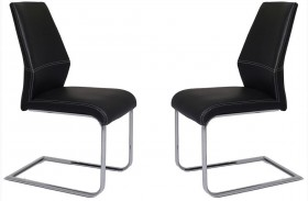 Lotto Black Dining Chair Set of 2