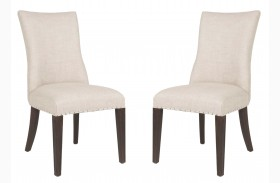 Lourdes Rustic Java Dining Chair Set of 2