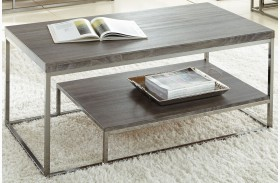 Lucia Black Nickel Cocktail Table