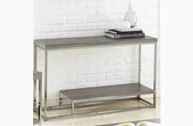 Lucia Black Nickel Sofa Table