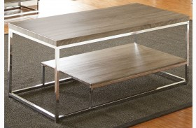 Lucia Gray and Brown Cocktail Table