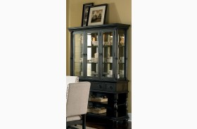 Leona Antique Charcoal Buffet with Hutch