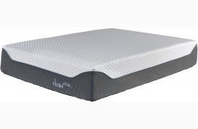 "Chime Elite 14"" White and Blue King Ultra Plush Mattress with Foundation"
