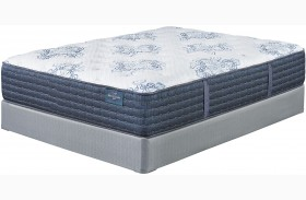 Mt. Dana Firm White Cal. King Mattress With Foundation