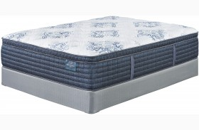 Mt. Dana Euro Top White Cal. King Mattress With Foundation