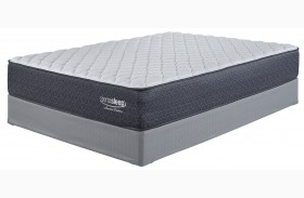 White Cal. King Firm Mattress With Foundation