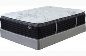 Manhattan Design District Firm Pillow Top White King Mattress with Foundation