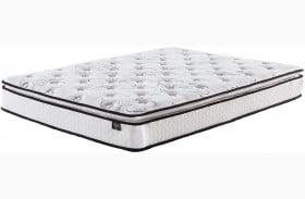 """Chime 10"""" Bonnell Pillowtop White King Size Mattress"""