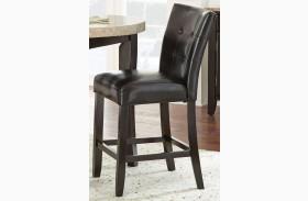 Monarch Cordovan Dark Cherry Counter Chair Set of 2