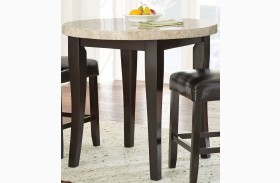 Monarch Cordovan Dark Cherry Round Counter Height Dining Table