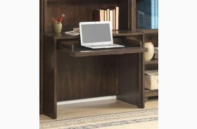 Meridien Burnished Dark Ash Library Desk With Usb Power Center