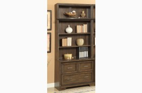 Meridien Burnished Dark Ash Lateral File With Hutch