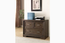 Meridien Burnished Dark Ash Library 2 Drawer Lateral File